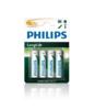 Baterie Philips LongLife, LR6, AA, Zinc-Chloride (Blistr 4ks)