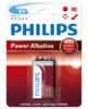 Baterie Philips 9V, Power Alkaline, (Blistr 1ks)