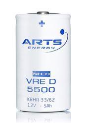 Baterie Saft/Arts 5500 VRE D, 1,2V, (velikost D), 5500mAh, Ni-Cd, 1ks