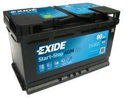 Autobaterie EXIDE Start-Stop AGM, 12V, 80Ah, EK800 - 1