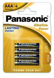 Baterie Panasonic Alkaline Power AAA, LR03, (Blistr 4ks) - 1