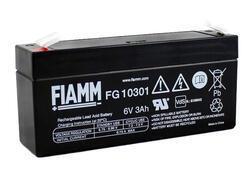 Olověný akumulátor Fiamm FG10301, 3Ah, 6V, (faston 187) - 1