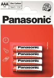 Baterie Panasonic zinco-carbon, R03RZ, AAA, (Blistr 4ks) - 1