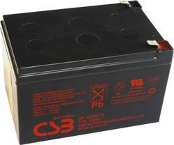 Akumulátor (baterie) CSB GP12120 F2, 12V, 12Ah, Faston 250, široký - 1