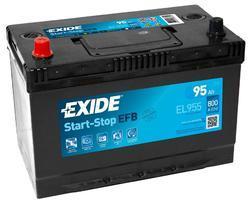 Autobaterie EXIDE Start-Stop EFB, 12V, 95Ah, 800A, EL955 - 1