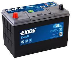 Autobaterie EXIDE Excell 12V, 95Ah, 720A, EB955 - Levá - 1