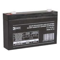 Olověný bezúdržbový akumulátor SLA 6V, 7Ah, F1, úzký - 1