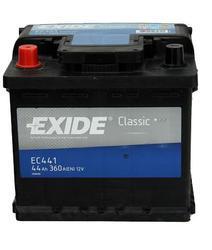 Autobaterie EXIDE Classic 12V, 44Ah, 360A, EC441 - Levá