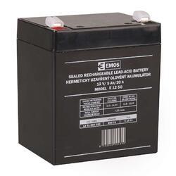 Olověný bezúdržbový akumulátor SLA 12V, 5Ah, F1, široký