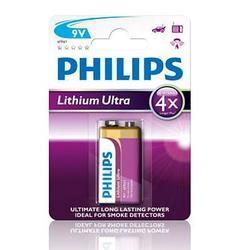 Baterie Philips 6FR61LB1A/10, 9V, Lithium Ultra, (Blistr 1ks) - 1
