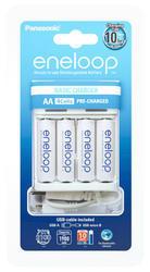 Nabíječka Panasonic Eneloop USB-in Charger BQ-CC61E + 4xBK-3MCCE, AA, 1900mAh - 1