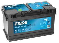 Autobaterie EXIDE Start-Stop EFB, 12V, 75Ah, 730A, EL752 - 1