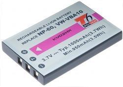 Baterie Fuji NP-60, 3,6V (3,7V), 1000mAh, 3,7Wh, Li-ion