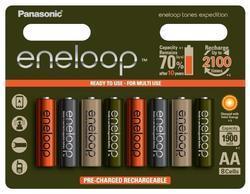 Baterie Panasonic Eneloop Tones Expedition HR 3UTGB, nabíjecí, AA, 2000mAh, (Blistr 8ks) - 1