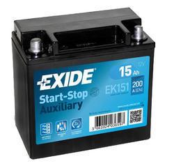 Autobaterie EXIDE Start-Stop Přídavná (Auxiliary), 12V, 15Ah, 200A, EK151 - 1