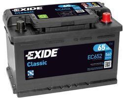 Autobaterie EXIDE Classic 12V, 65Ah, 540A, EC652 - 1
