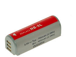 Baterie Canon NB-9L, 3,6V (3,7V), 700mAh