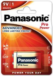 Baterie Panasonic Pro Power, 6LR61, 9V, (Blistr 1ks) - 1