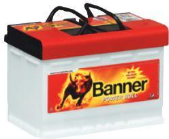 Autobaterie Banner POWER BULL PROfessional P77 40, 77Ah, 12V, 680A (P7740)
