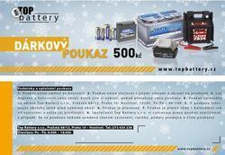 Dárkový poukaz v hodnotě 500Kč - 1