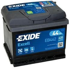 Autobaterie EXIDE Excell 12V, 44Ah, 420A, EB442 - 1