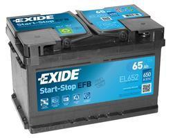 Autobaterie EXIDE Start-Stop EFB, 12V, 65Ah, 720A, EL652 - 1