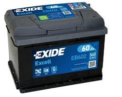 Autobaterie EXIDE Excell 12V, 60Ah, 540A, EB602 - 1