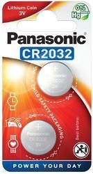 Baterie Panasonic CR2032, Lithium, 3V, CR-2032EL/2B, 2B380562, (Blistr 2ks) - 1