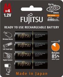 Baterie Fujitsu HR-3UTHC, AA, Black, 2550mAh, (blistr 4ks), nabíjecí
