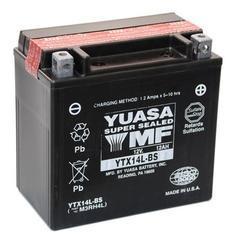 Motobaterie YUASA YTX14L-BS, 12V, 12Ah - 1