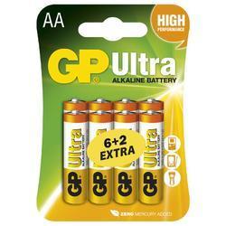 Baterie GP 15AU Ultra Alkaline, R6, AA, (Blistr 8ks), 6+2 extra - 1
