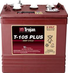 Trakční baterie Trojan T 105 Plus (3 / 9 GiS 197 BS Plus, 225Ah, 6V - průmyslová profi - 1