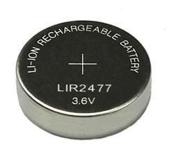 Knoflíkový akumulátor LIR2477, 3,6V, Li-Ion, nabíjecí, (Blistr 1ks) - 1