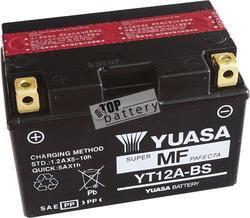 Motobaterie YUASA YT12A-BS, 12V, 9,5Ah - 1