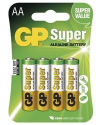 Baterie GP Super Alkaline, 15A, LR6, AA, (Blistr 4ks) - 1