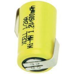 Xcell 1/2 AA, 1,2 V, 600mAh s pájecími kontakty
