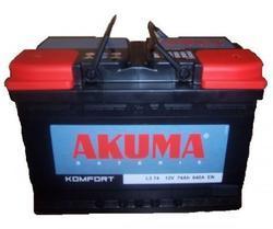 Autobaterie Akuma 12V, 74Ah, 640A, 7903538, Komfort