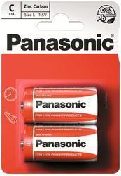 Baterie Panasonic zinco-carbon, R14RZ, C, (Blistr 2ks) - 1