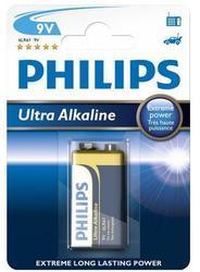 Baterie Philips Ultra Alkaline 6LR61, 9V (Blistr 1ks) - 1
