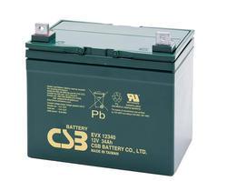 Akumulátor (baterie) CSB EVX12340, 12V, 34Ah, šroubová spojka M6 - 1