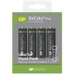 Nabíjecí baterie GP ReCyko+ Pro Photo Flash HR6 (AA), 2600mAh, 1033224260, (Blistr 4ks) - 1