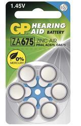 Baterie GP ZA675, PR44, AC675, DA675 do naslouchadel (Blistr 6ks) 1044067516