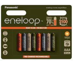 Baterie Panasonic Eneloop Tones Expedition, nabíjecí, R03, AAA, 750mAh, (Blistr 8ks)