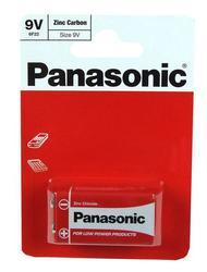 Baterie Panasonic zinco-carbon, 6F22RZ, 9V, (Blistr 1ks) - 1