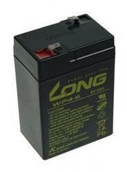 Baterie Long 6V, 4,5Ah olověný akumulátor F1 - 2
