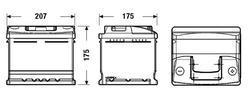 Autobaterie EXIDE Classic, 12V, 41Ah, 370A, EC412 - 2