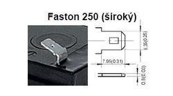 Akumulátor (baterie) CSB GP12120 F2, 12V, 12Ah, Faston 250, široký - 2