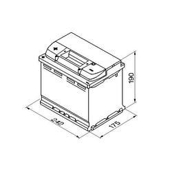 Autobaterie BOSCH Silver S5 006 , 63Ah, 12V, 610A, 0 092 S50 060 - 2