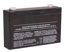 Olověný bezúdržbový akumulátor SLA 6V, 7Ah, F1, úzký - 2