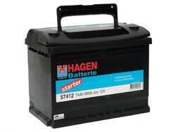 Autobaterie Hagen 74Ah, 12V, 680A - 2